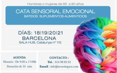 Convocatoria CATA SENSORIAL EMOCIONAL en Barcelona.
